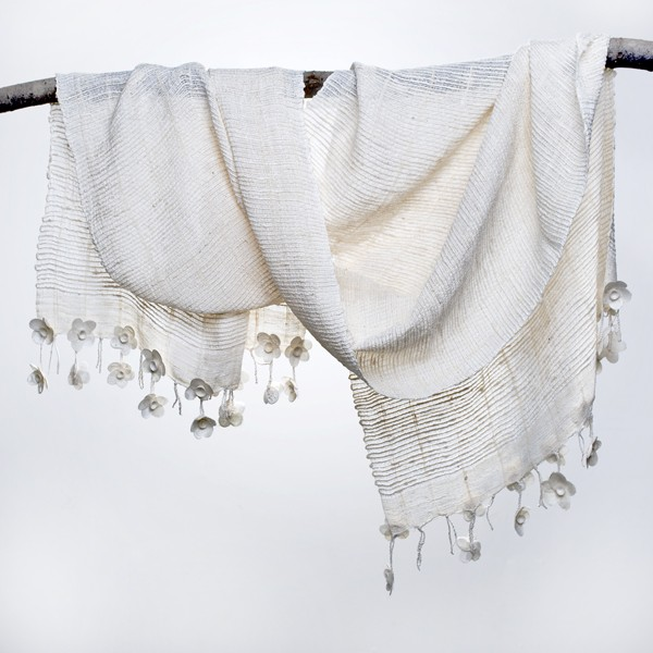 Handwoven Silk Shawl From Ethiopia