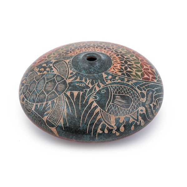 Traditional Incised Vase From Nicaragua