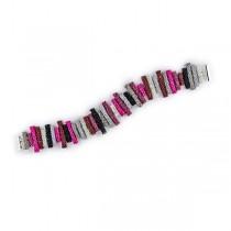 Multicolored Glass Bead Bracelet