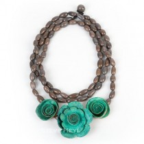 Rose and Lotus Necklace