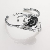 Alpaca Silver and Onyx Bracelet