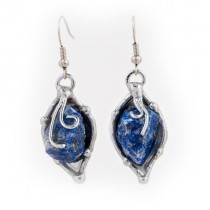 Alpaca Silver and Blue Quartz Earrings