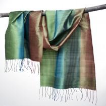 Multicolored silk shawl