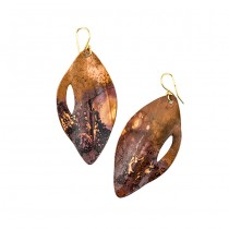 Oxidized Copper Earrings From Argentina