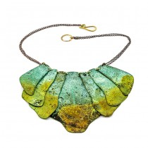 Oxidized Brass Necklace From Argentina