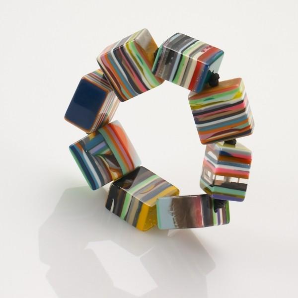 Multicolored Cube Bracelet