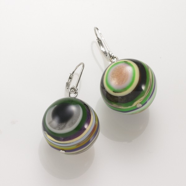 Multicolored Ball Earrings