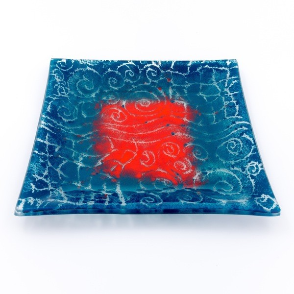 Square Glass Plate From South Africa