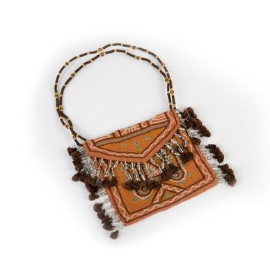 Hand Embroidered & Beaded Purse