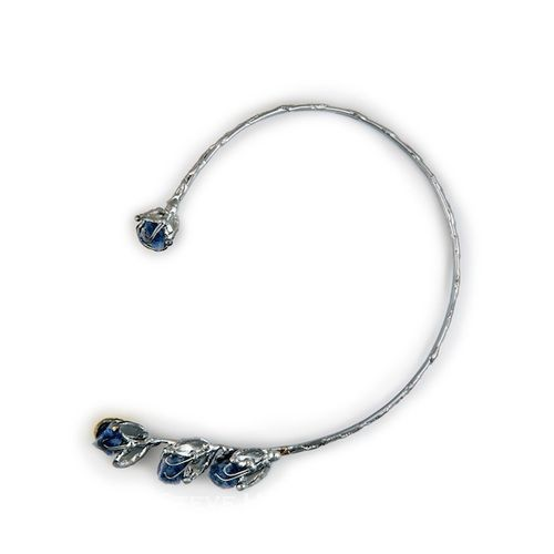Alpaca Silver and Blue Quartz Necklace From Brazil