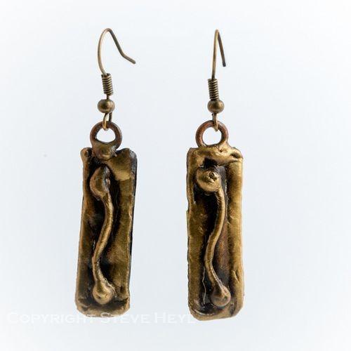 Brass Earrings From Brazil