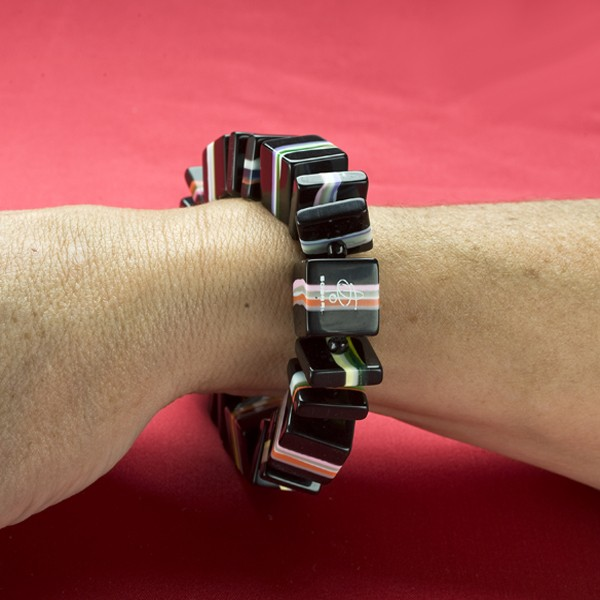 Cube & Square Resin Bracelet