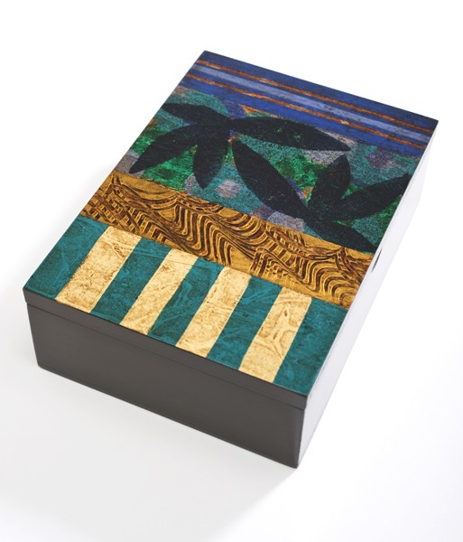 Hand-painted Wood Box From Brazil