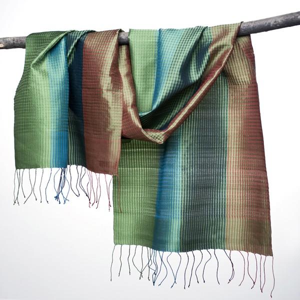 Handwoven Silk Shawl From Laos