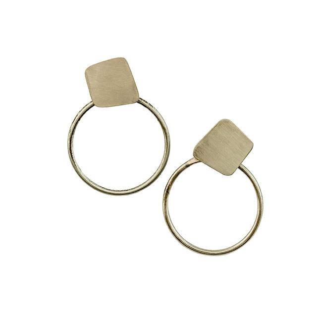 Alpaca Silver Hoop Earrings From Argentina