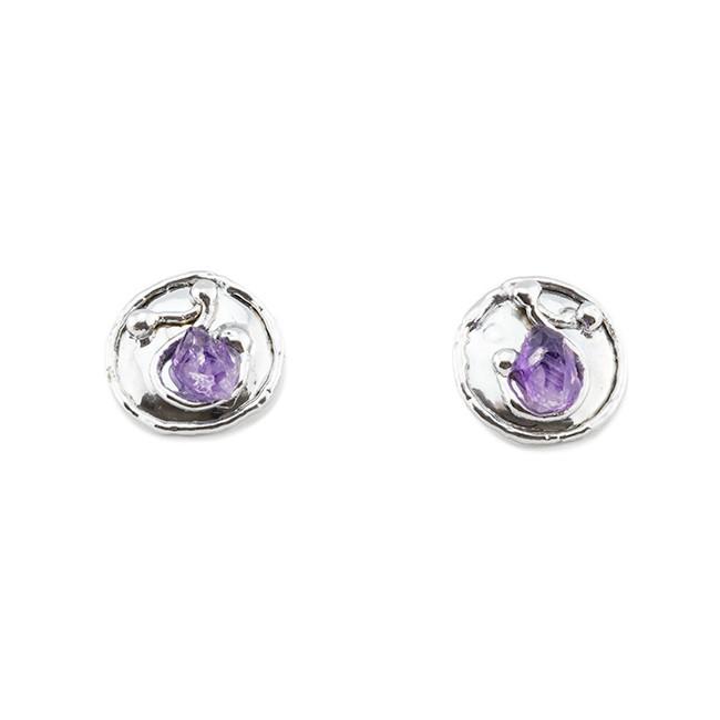 Alpaca Silver And Amethyst Earrings