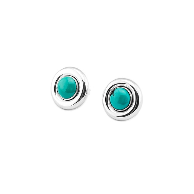 Silver & Turquoise Earrings From Indonesia