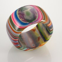 Wide Multicolored Bangle