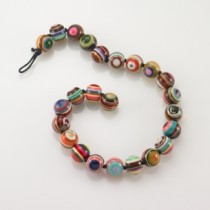 Multicolored Resin Bead Necklace