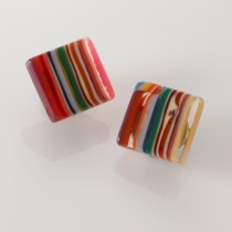 Multicolored Striped Earrings
