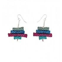 Multicolored Glass Bead Earrings