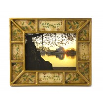 Reverse Painted Glass Picture Frame