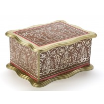 Reverse Painted Glass Box with Interior Tray