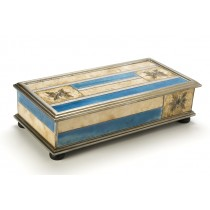 Reverse Painted Glass Box