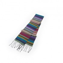 Rainbow Silk Scarf From Cambodia