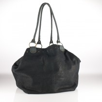 Python-effect Leather Tote