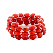 Huayruro Seed and Sterling Silver Wrap Bracelet