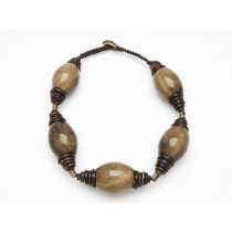 Tagua Oval Bead Necklace