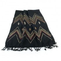 Hand Embroidered Wool Shawl