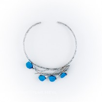 Alpaca Silver and Raulita Blue Necklace From Brazil