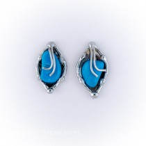 Alpaca Silver and Raulita Blue Earrings From Brazil