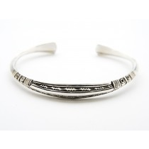 Silver Bracelet with Tapered Ends