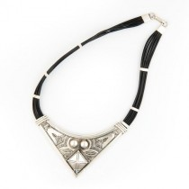 Silver and Leather Necklace