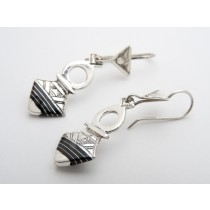 Ebony and Silver Timia Earrings
