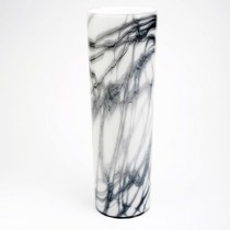 Tall Glass Cylindrical Vase