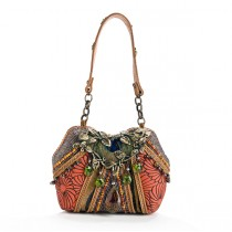 Fabric and beaded evening bag