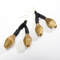 Golden Grass Cascade Earrings