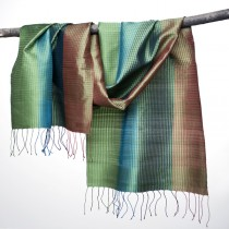 Handwoven Silk Shawl From Laos