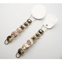 Copper & Brass Salad Servers