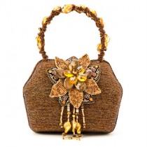 Gold Beaded Evening Bag