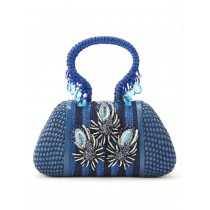 Blue evening bag