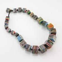 Multicolored Cube Necklace