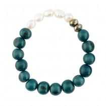 Acai Seed & Pearl Bracelet From Ecuador