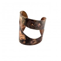 Oxidized Copper Cuff From Argentina