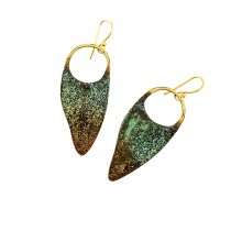 Oxidized Brass Earrings From Argentina