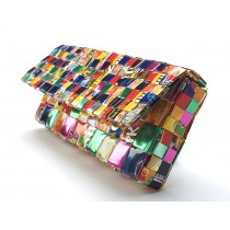 Recylced Candy Wrapper Clutch From Peru